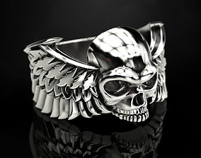 3D printable model Skull wings ring 2