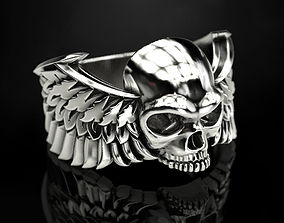 3D printable model Skull wings ring 2