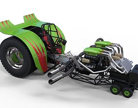 3D Twin-engined pulling tractor 2