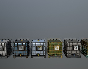Water Storage Tank 3D model realtime