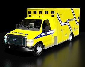 Quebec Ambulance 3D asset