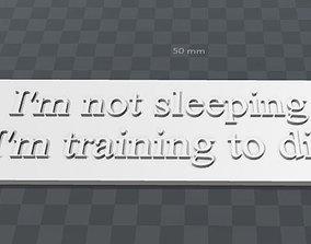 Plate-im not sleeping im training to 3D printable model