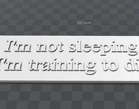 Plate-im not sleeping im training to 3D printable model