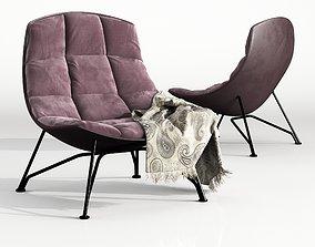 3D model pillow armchair