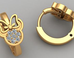 MINNIE MOUSE CHILD GOLD EARRING 3D printable model