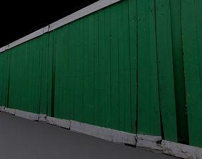 3D asset fence painted
