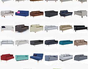 3D sofa West Elm Sofa collection