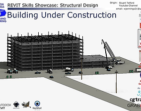 Revit Skills Showcase Building Under Construction 3D model