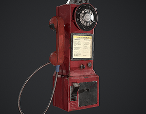 3D model Vintage Dial Pay Phone