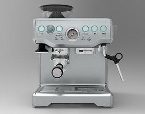 Coffee Machine Breville Barista Express 3D asset
