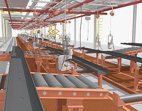 3D model Production line Equipment