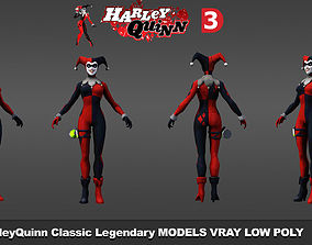HarleyQuinn Classic v2 3D models low poly game-ready