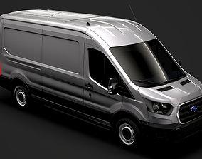 Ford Transit Van 350 L3H2 Leader 2020 3D