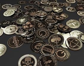 Coins dollar 3D model