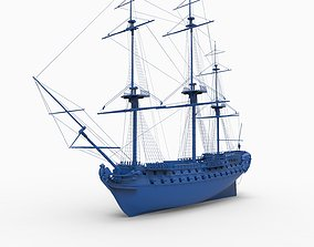French ship Superbe 1782 3D printable model