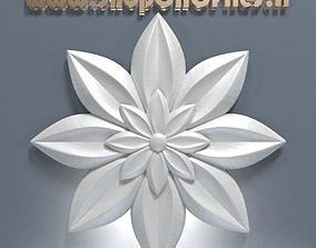 3d carved flower decor