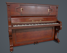 3D asset Old piano PBR