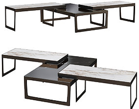 SM Living Couture KIRA SET OF 3 COFFEE TABLES 3d realtime