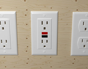 socket 3D Electrical Outlets