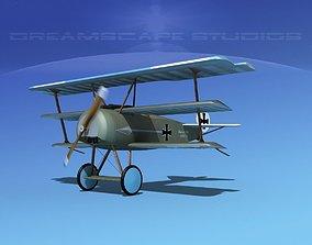 Fokker DR-1 Triplane V15 3D model
