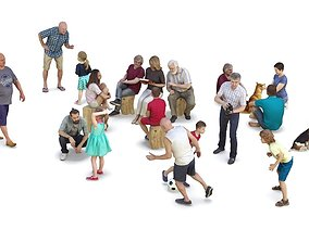People Park Collection x20 3D model