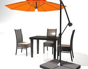 3D model Outdoor Patio Cantilever Umbrella