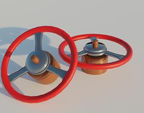 3D model steering wheel car