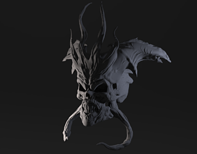 art 3D printable model Demon Skull