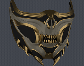 MK11 Aftermath Scorpion Mask V2 - STL 3D printable model