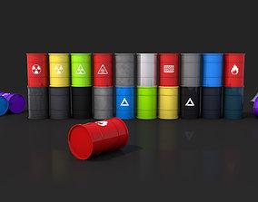 3D asset Pack Barrel