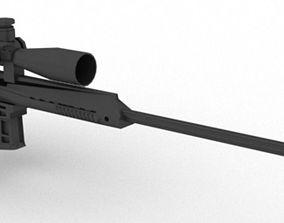 3D asset Barrett M98B 338 Sniper Rifle