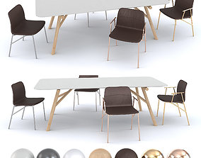 3D model Pianca - Table Maestro and Chair Alunna