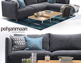 3D Corner sofa Flipper and Ikea rug livingroom