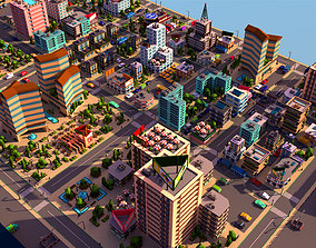 3D asset Simple City