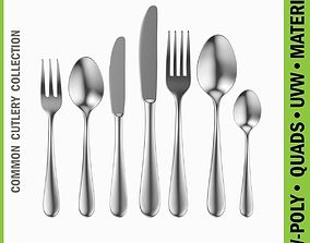 Common Cutlery Set 7 Pieces 3D model