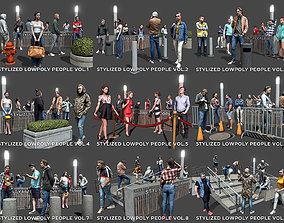 3D model Stylized Lowpoly People Complete Pack