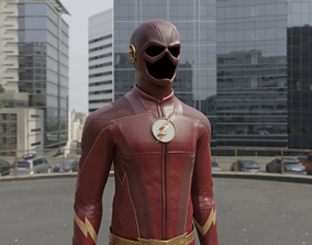 CWs The Flash Season 4 Suit 3D Model rigged