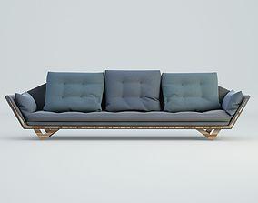 3D model Blue Craft Sofa