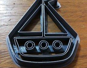 Cookie Cutter Sailboat Barco Velero 3D print model