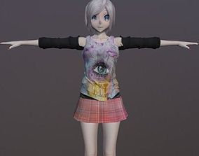 Stephanie Club Girl - Rigged Anime Character 3D asset