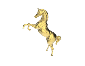 Arabic Horse in prancing position 3D print model