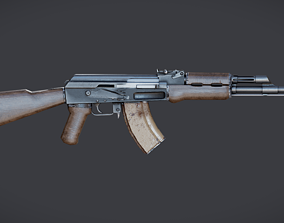 AK 47 based on factory drawings 3D asset