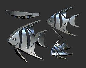 pendants fish 3d model
