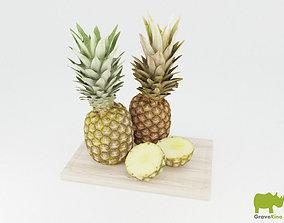 Pineapples 3D Model