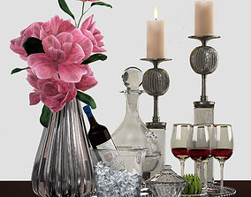 Decorative set in a modern style 3D model