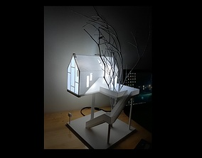 Tree house Lampshade 3D printing model