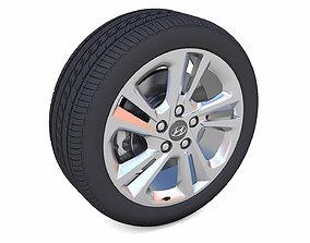 low-poly Hyundai Elantra Rim 3D Model