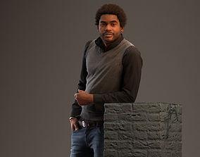 00041Andres002 Posing Man Pre Posed 3D Model