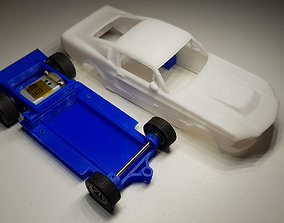 3D printable model Ford Mustang GT500 Eleanor Slot Car