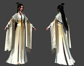 3D model Ancient Chinese Beauty Ancient maid traditional 2